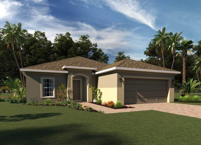 Exterior featured in the Greenwich By Hanover Family Builders in Orlando, FL