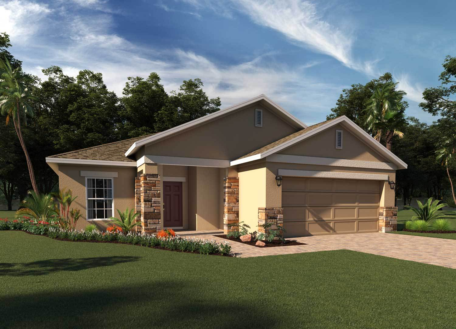 Exterior featured in the Greenwich By Hanover Family Builders in Lakeland-Winter Haven, FL