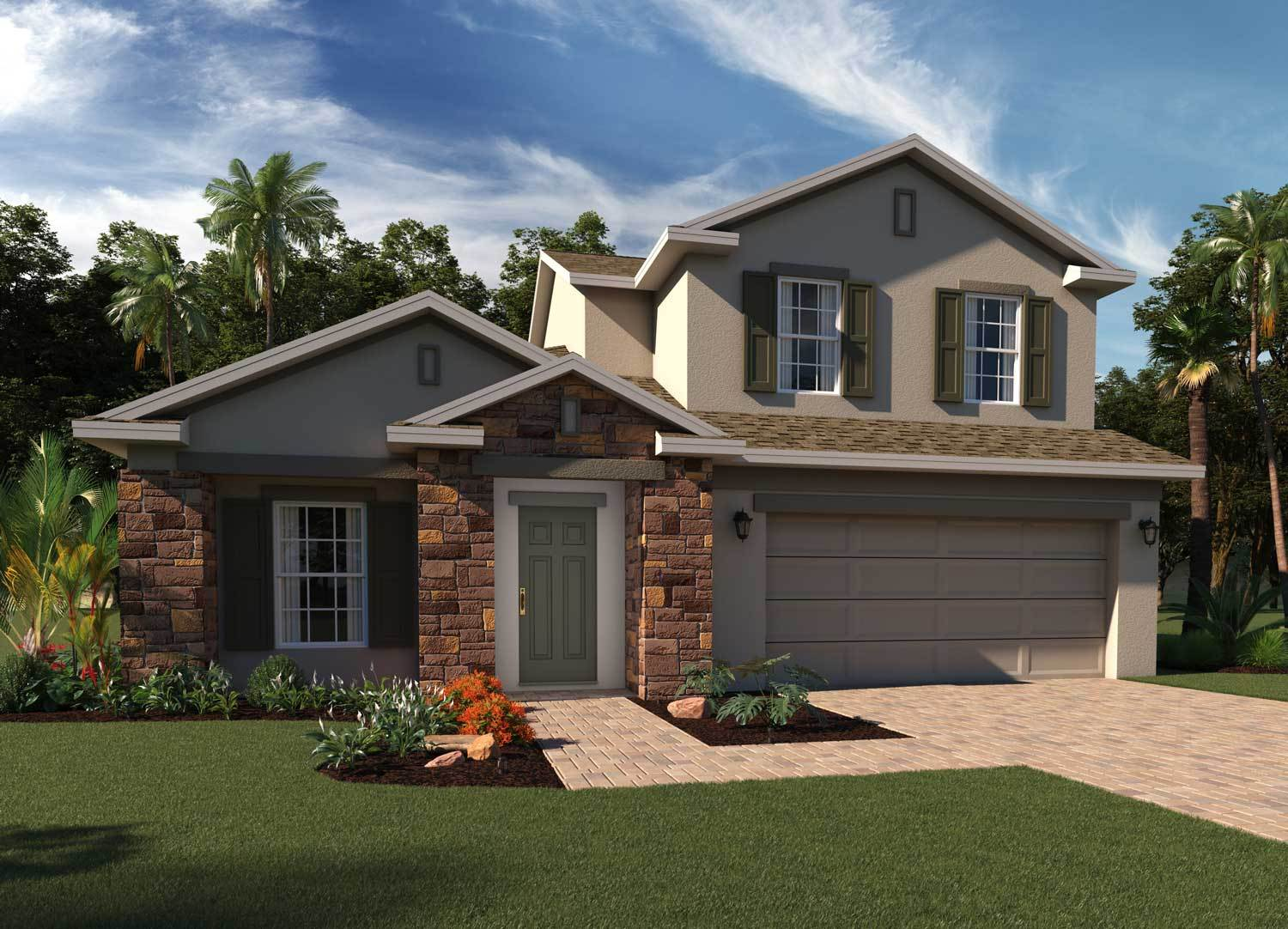 Exterior featured in the Greenwich Bonus By Hanover Family Builders in Lakeland-Winter Haven, FL