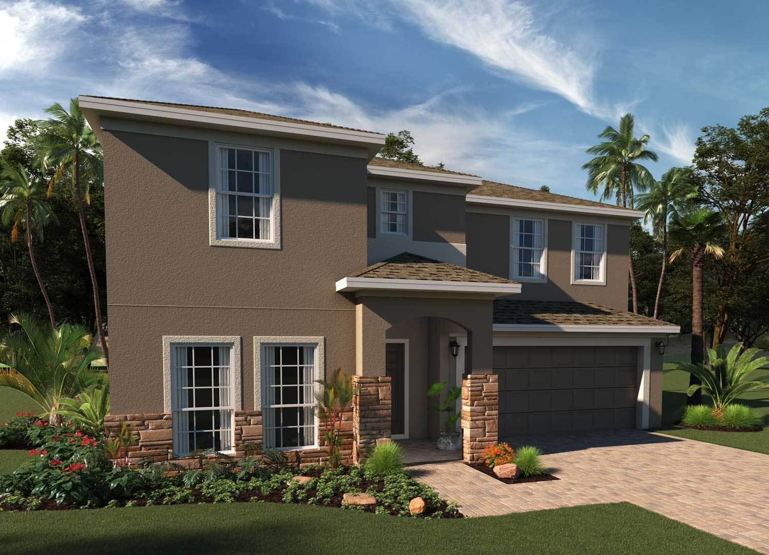Exterior featured in the Willshire By Hanover Family Builders in Lakeland-Winter Haven, FL
