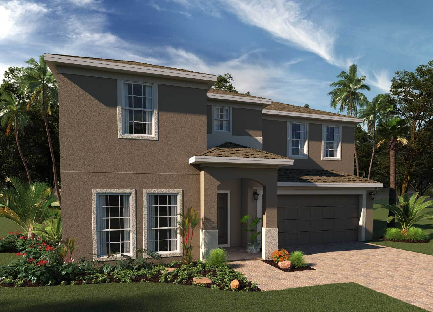Exterior featured in the Wilshire By Hanover Family Builders in Orlando, FL