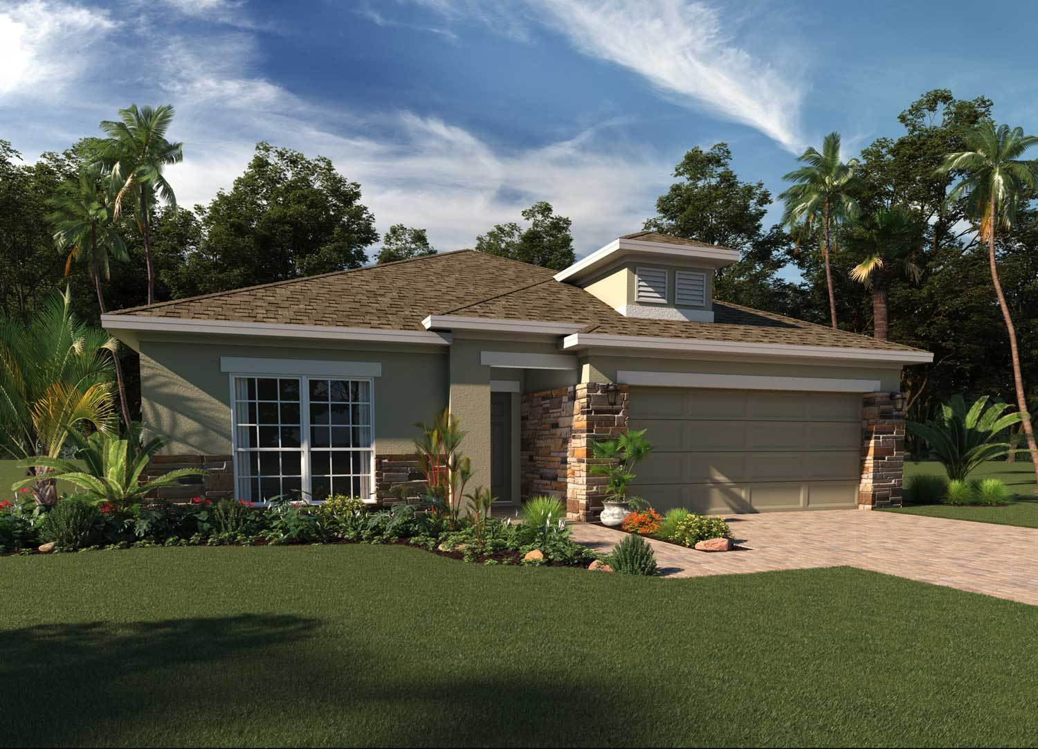 Exterior featured in the Kensington By Hanover Family Builders in Lakeland-Winter Haven, FL