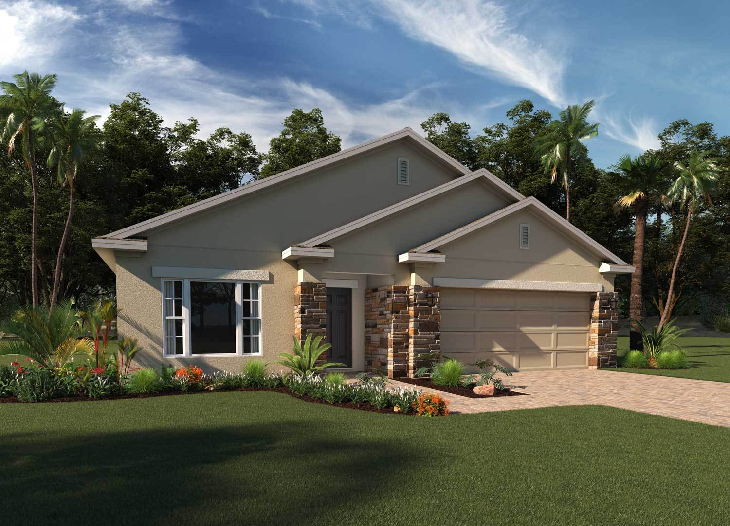 Exterior featured in the Lexington By Hanover Family Builders in Orlando, FL