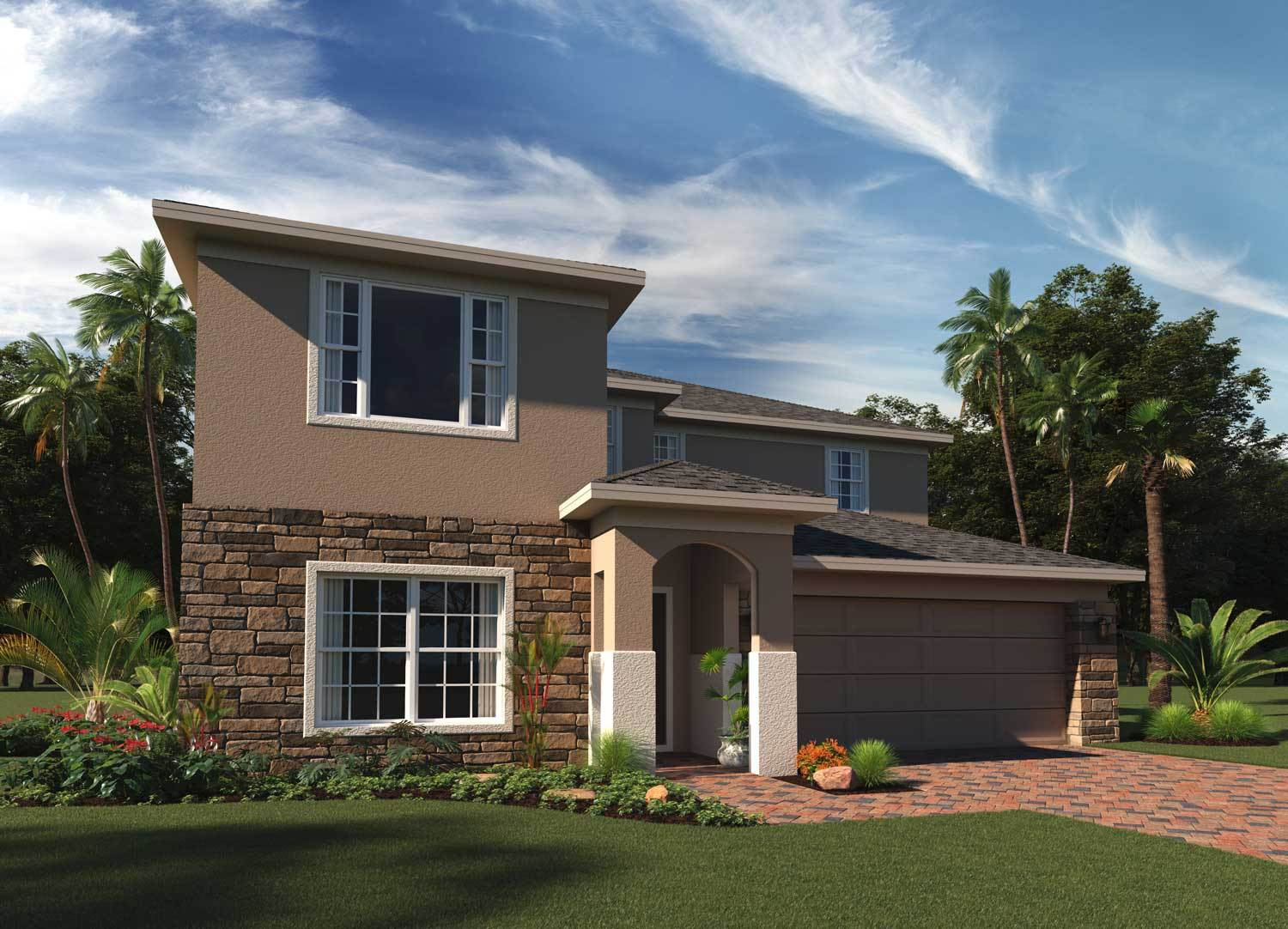 Exterior featured in the Sutton By Hanover Family Builders in Orlando, FL