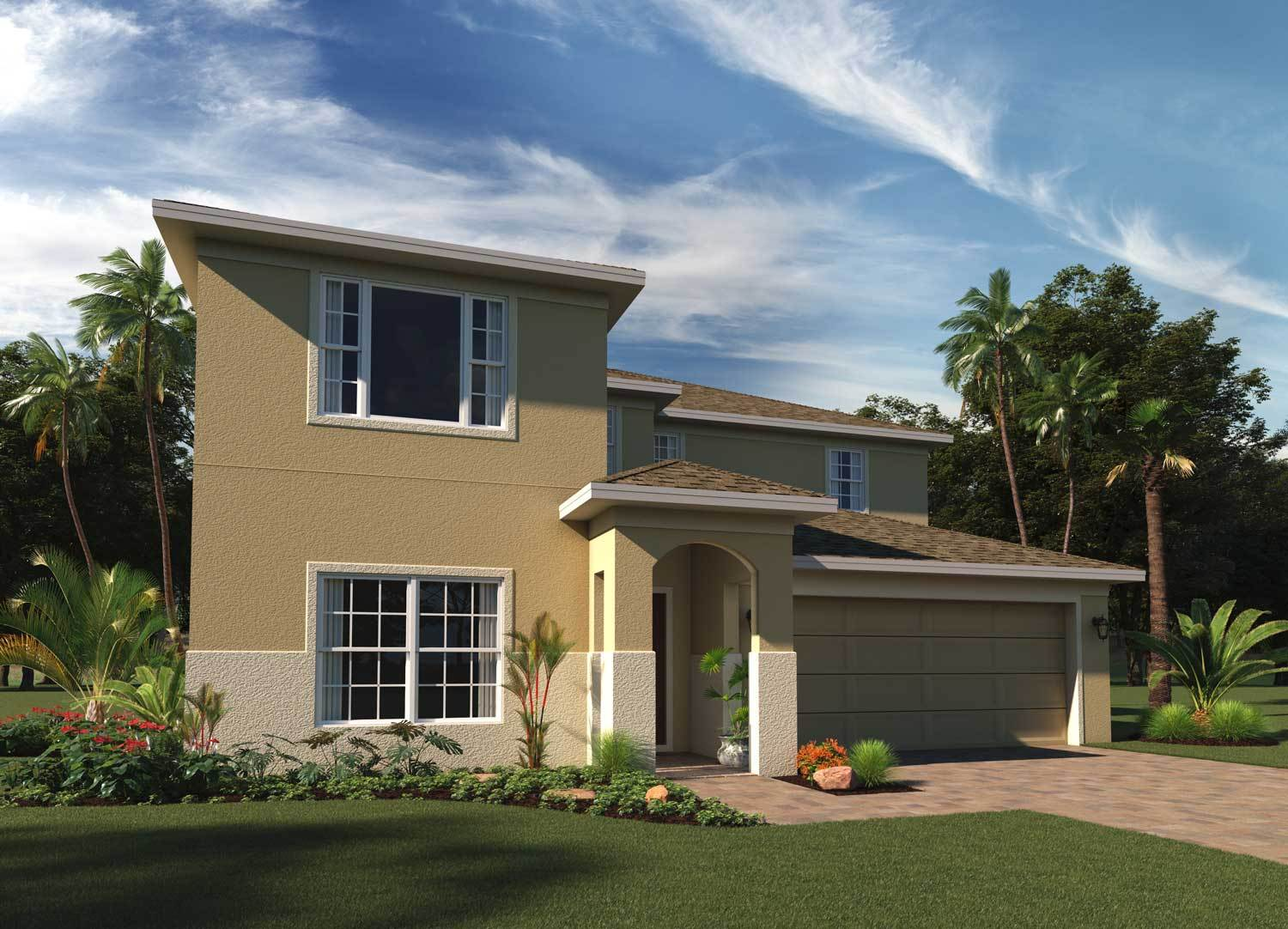 Exterior featured in the Sutton By Hanover Family Builders in Lakeland-Winter Haven, FL
