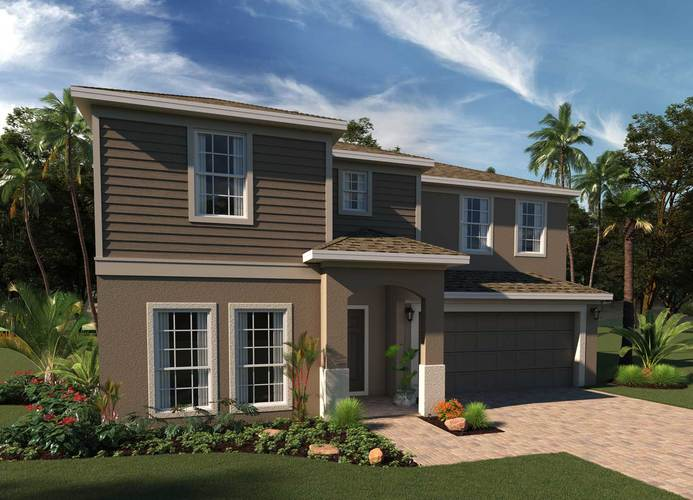 Exterior featured in the Willshire By Hanover Family Builders in Orlando, FL