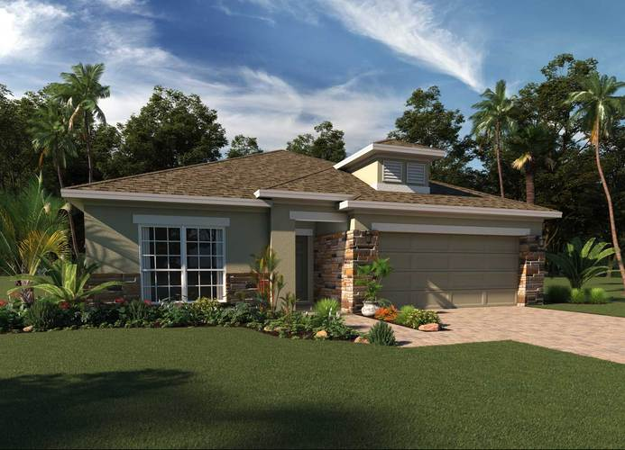 Exterior featured in the Kensington By Hanover Family Builders in Orlando, FL
