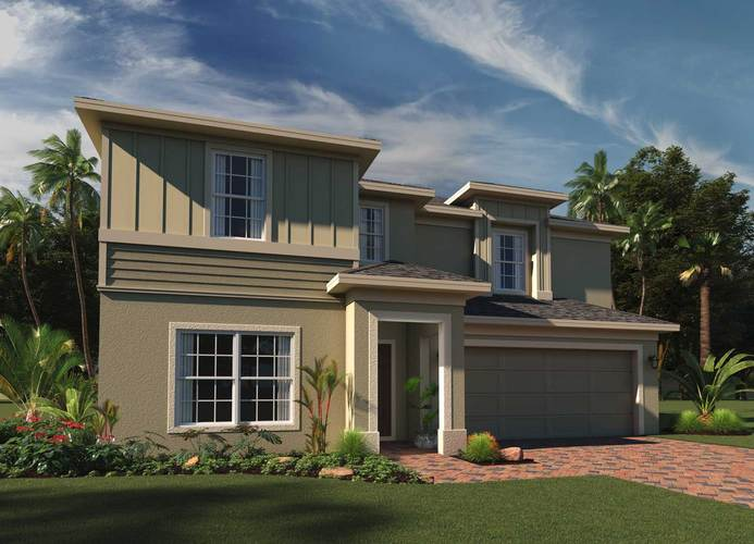 Exterior featured in the New Castle By Hanover Family Builders in Orlando, FL