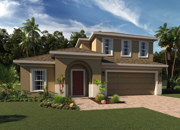 Exterior featured in the Greenwich Bonus By Hanover Family Builders in Orlando, FL