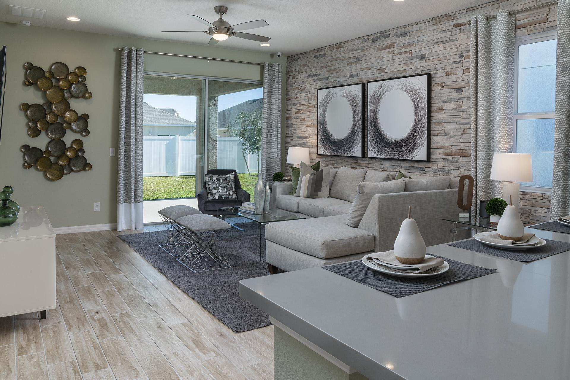 Living Area featured in the Berkshire By Hanover Family Builders in Lakeland-Winter Haven, FL
