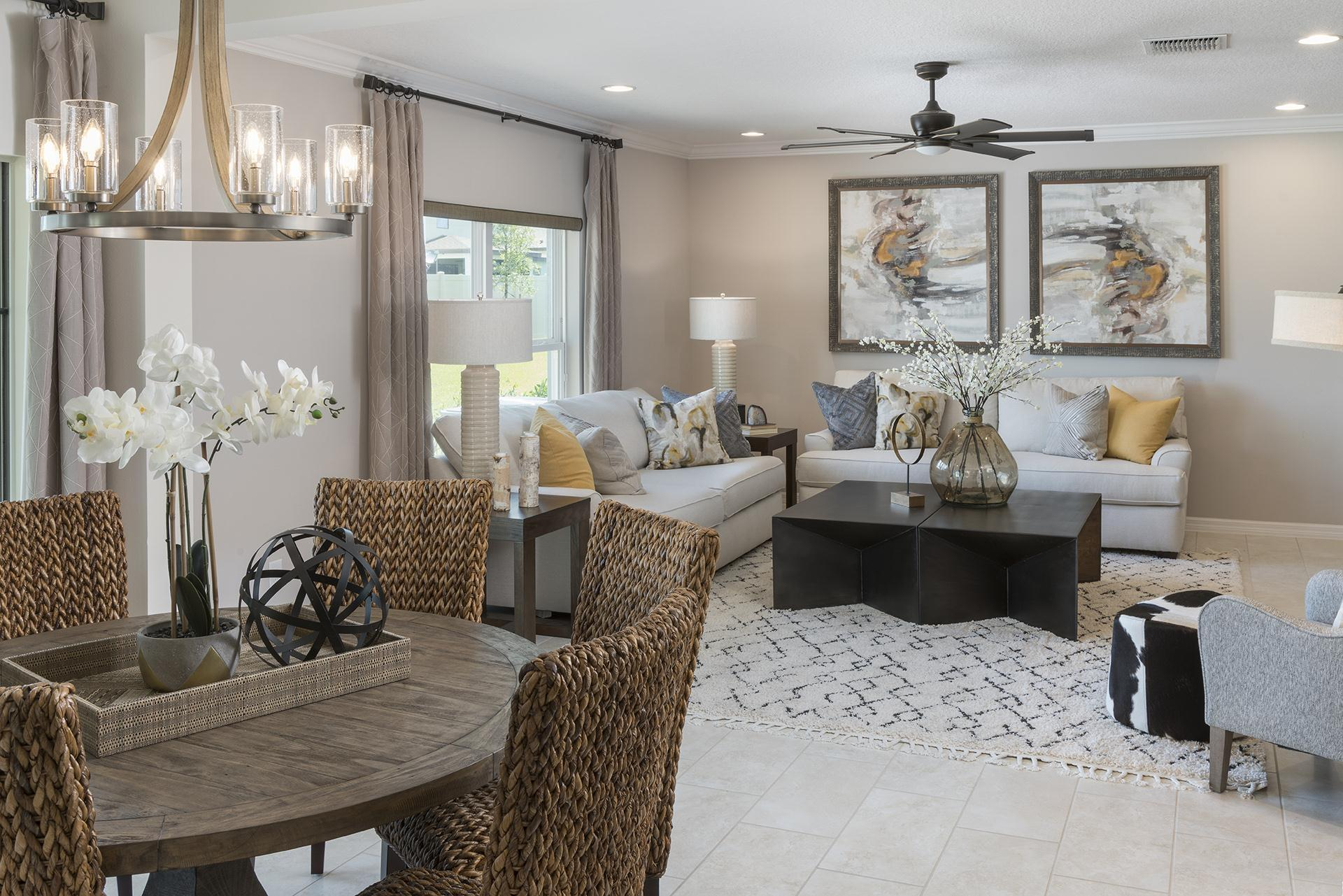 Living Area featured in the Newcastle Premier By Hanover Family Builders in Orlando, FL