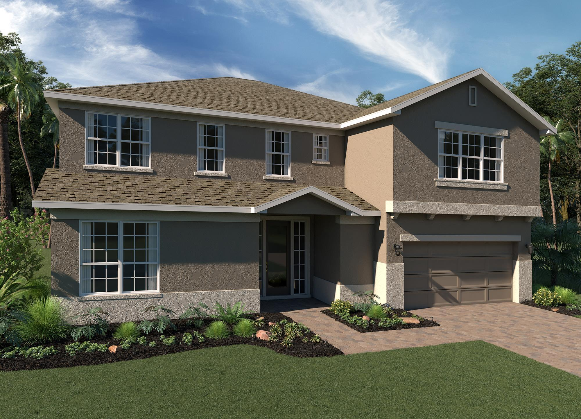 Exterior featured in the Osceola Executive By Hanover Family Builders in Orlando, FL