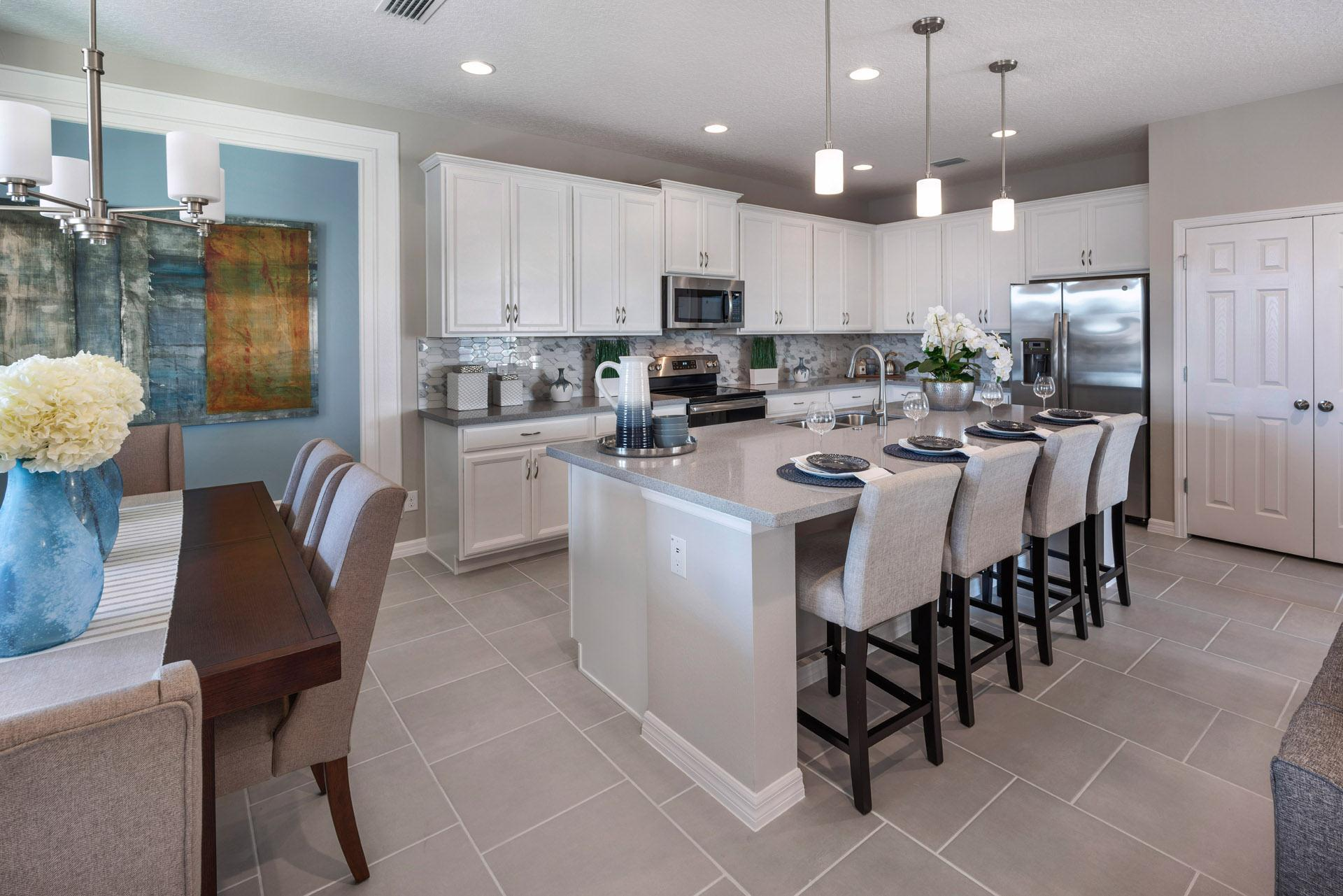 Kitchen featured in the Kensington Flex By Hanover Family Builders in Lakeland-Winter Haven, FL