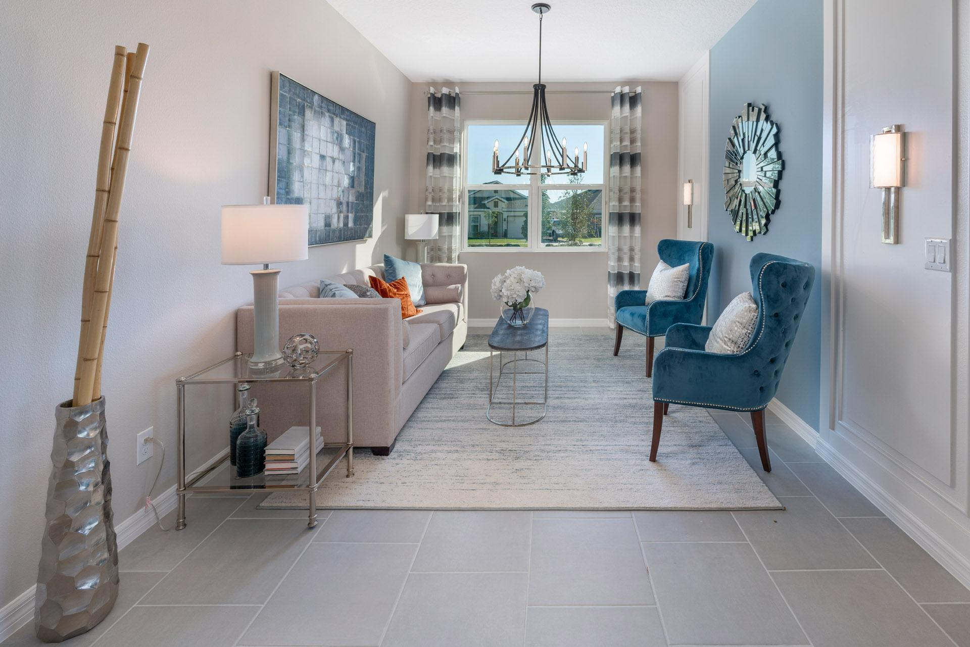 Living Area featured in the Kensington Flex By Hanover Family Builders in Orlando, FL