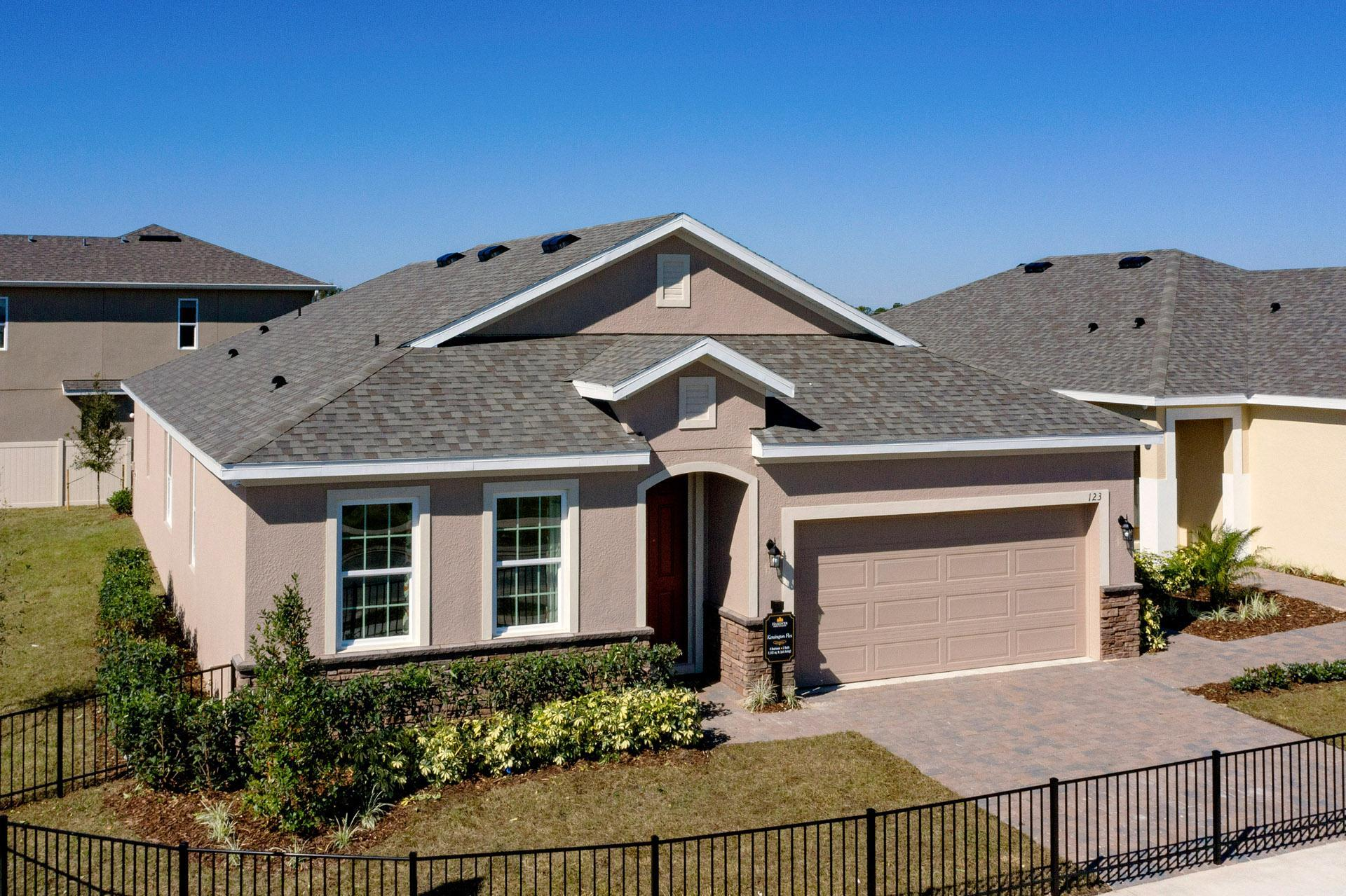 Exterior featured in the Kensington Flex By Hanover Family Builders in Lakeland-Winter Haven, FL