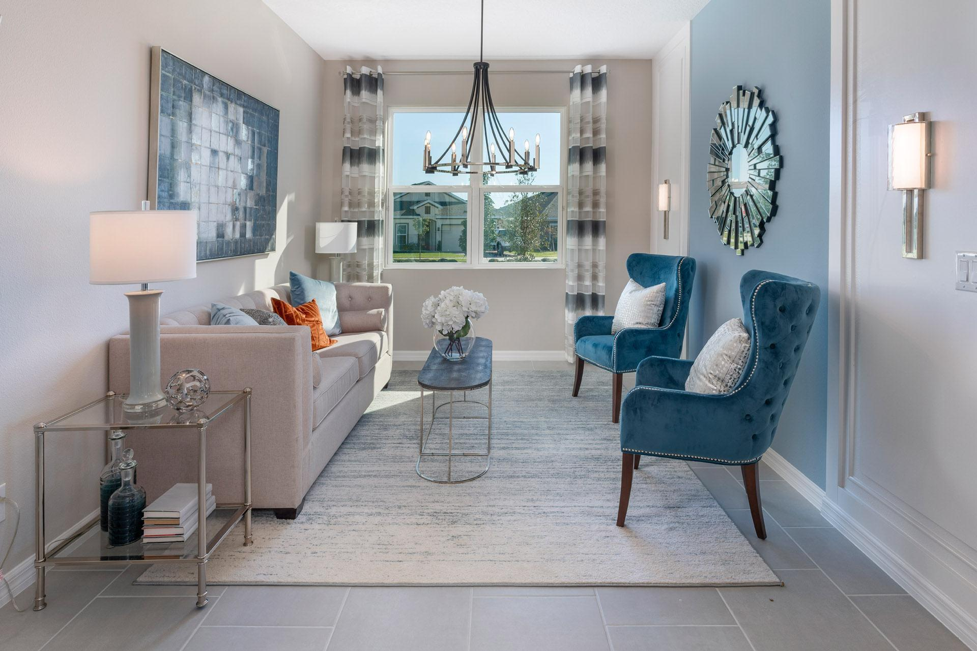 Living Area featured in the Kensington Flex By Hanover Family Builders in Lakeland-Winter Haven, FL