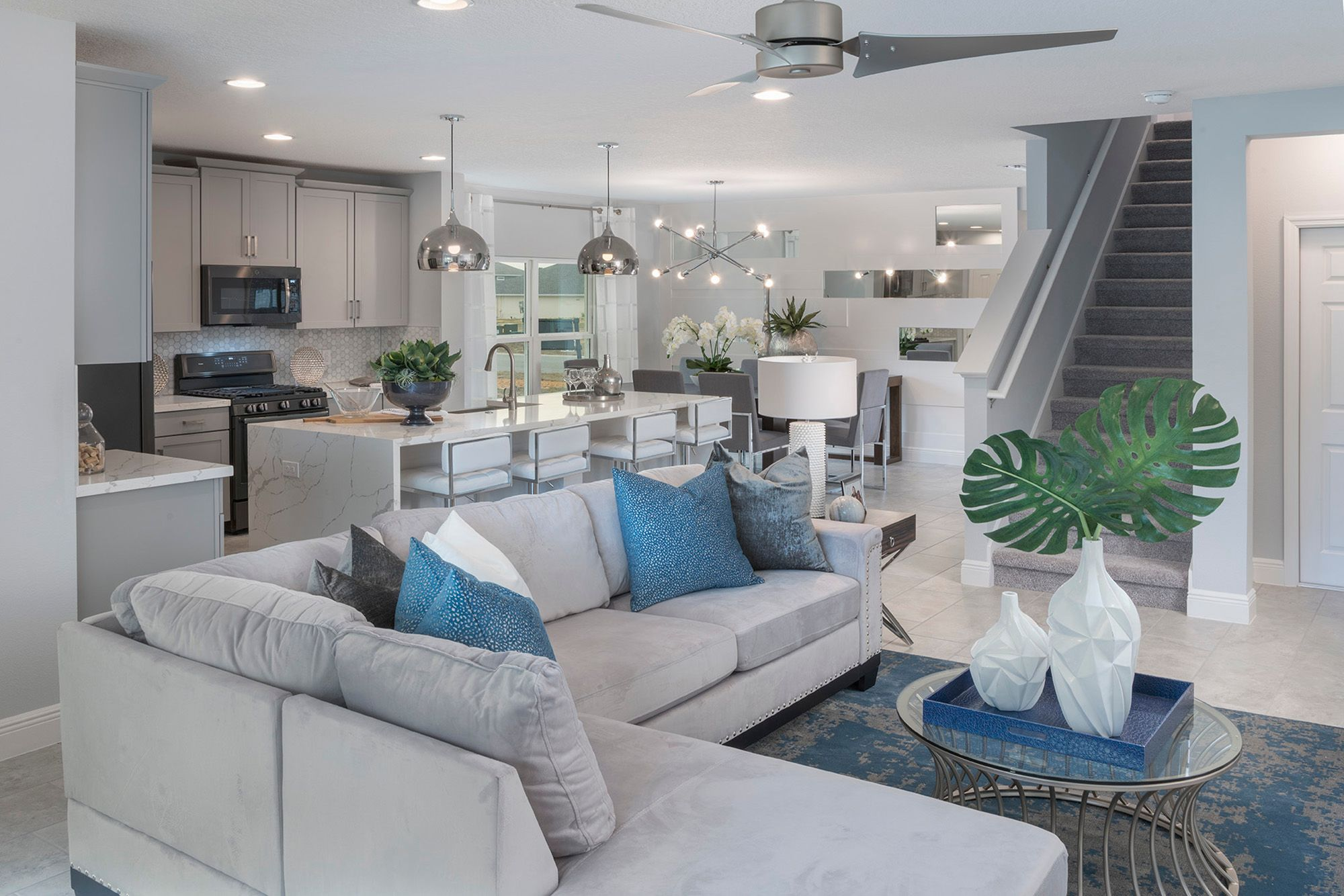 Living Area featured in the Wilshire By Hanover Family Builders in Orlando, FL