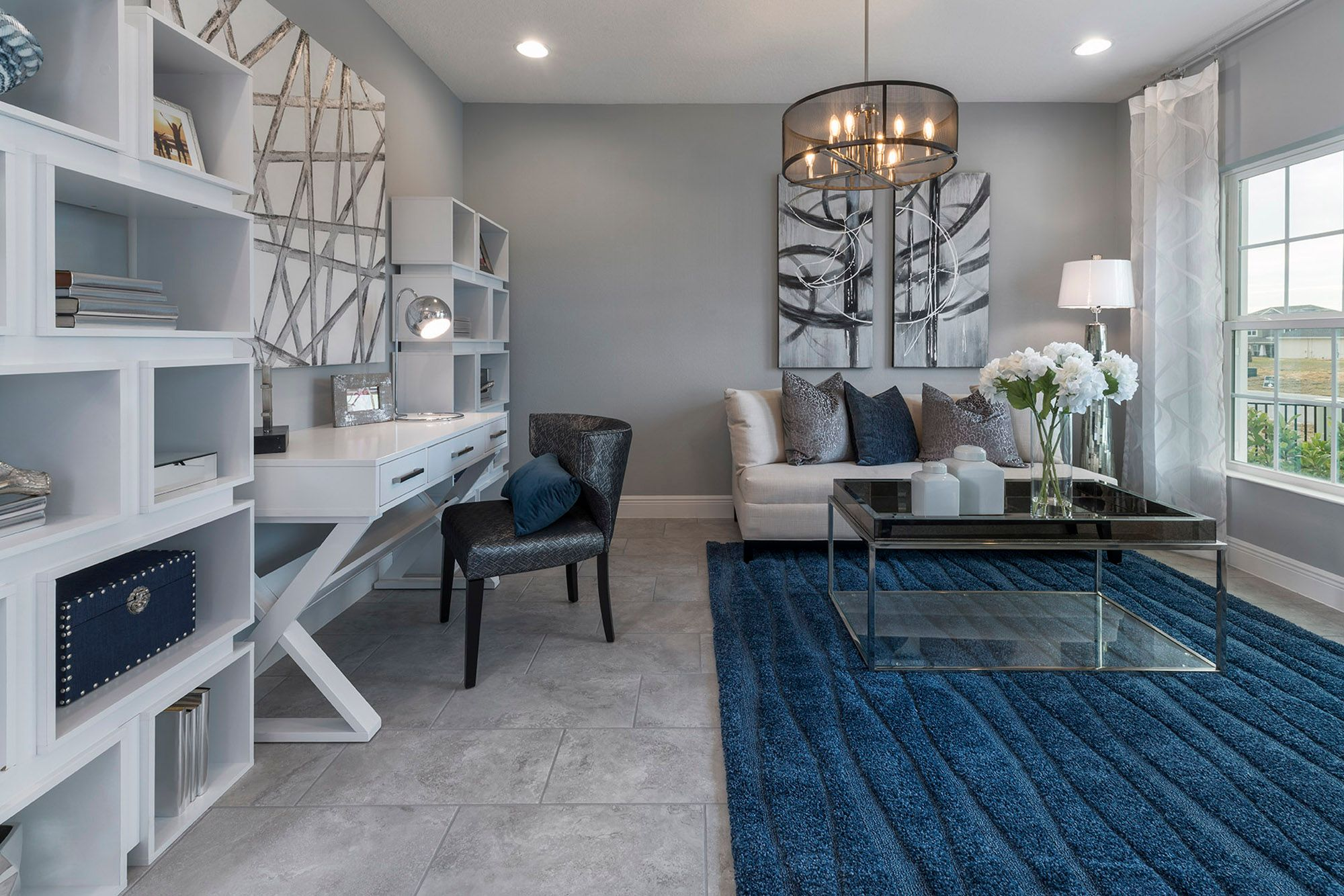 Living Area featured in the Wilshire By Hanover Family Builders in Lakeland-Winter Haven, FL