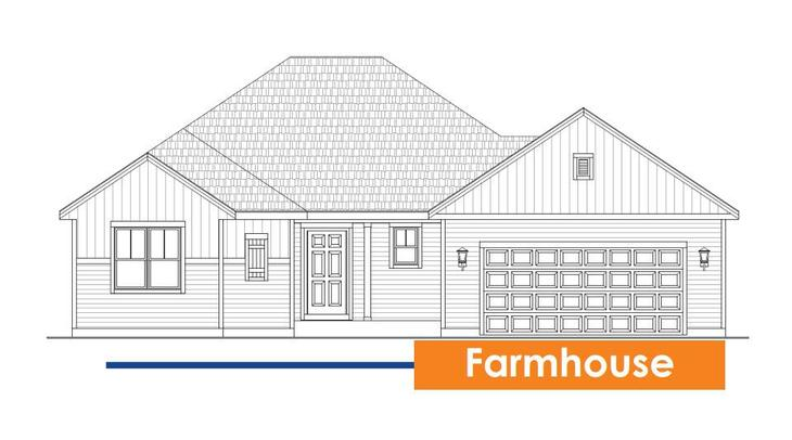 Drake :Farmhouse Elevation