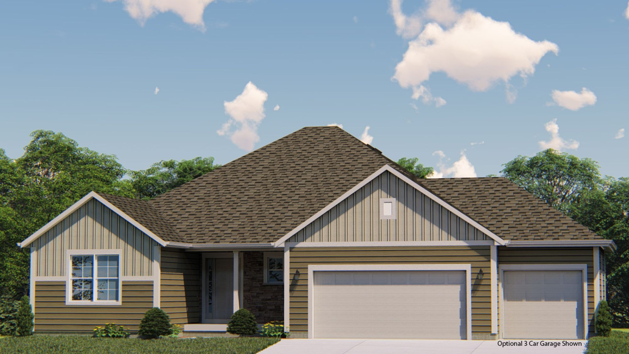 Exterior featured in the Wingra By Harbor Homes in Washington-Fond du Lac, WI