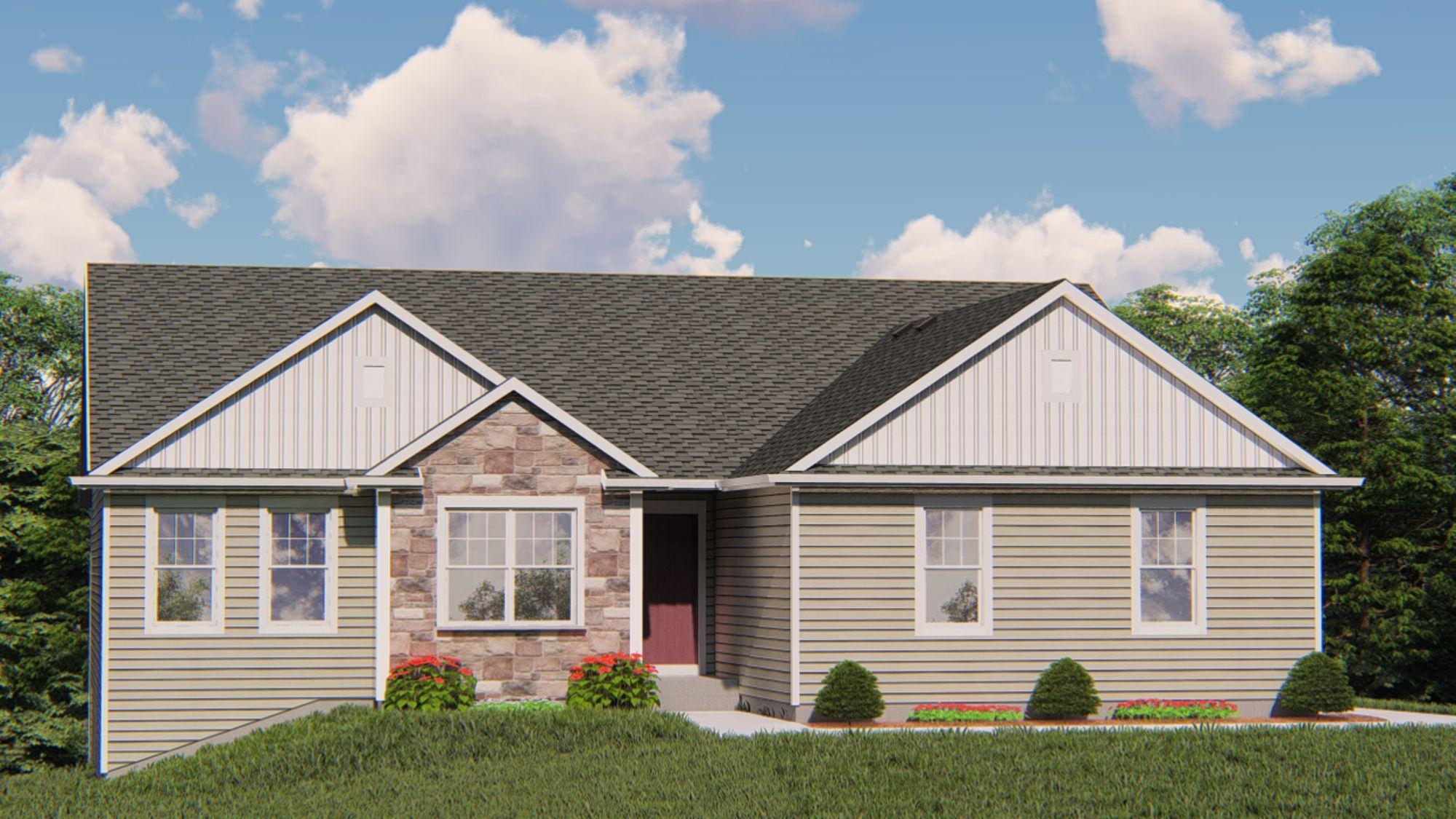 Exterior featured in the Saybrook By Harbor Homes in Washington-Fond du Lac, WI