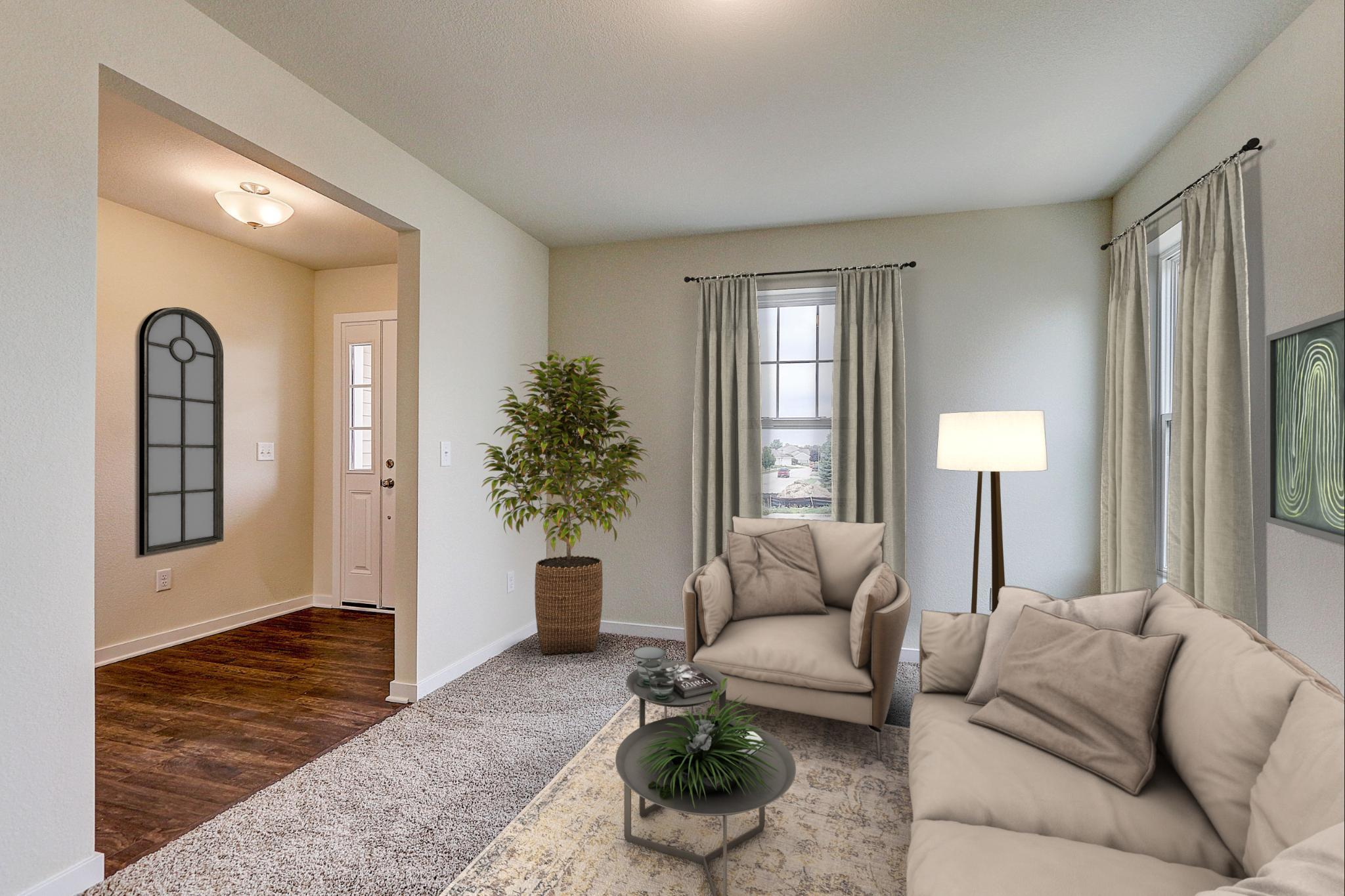 Living Area featured in the Catalina By Harbor Homes in Ozaukee-Sheboygan, WI