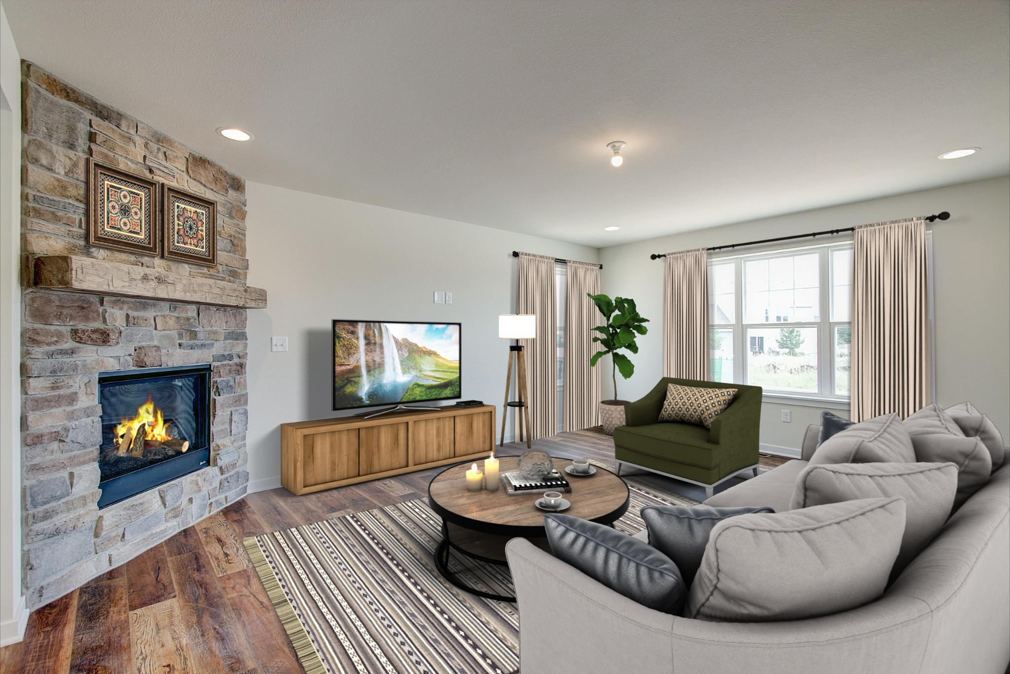 Living Area featured in the Dover By Harbor Homes in Ozaukee-Sheboygan, WI