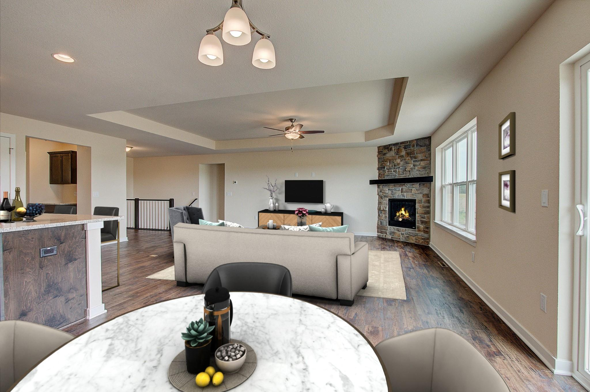 Living Area featured in the Drake By Harbor Homes in Ozaukee-Sheboygan, WI