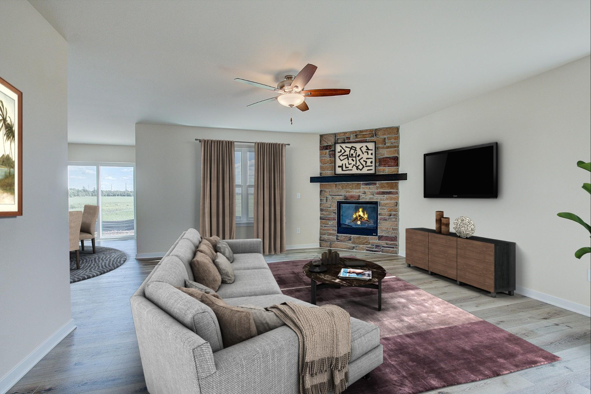 Living Area featured in the Hudson By Harbor Homes in Ozaukee-Sheboygan, WI