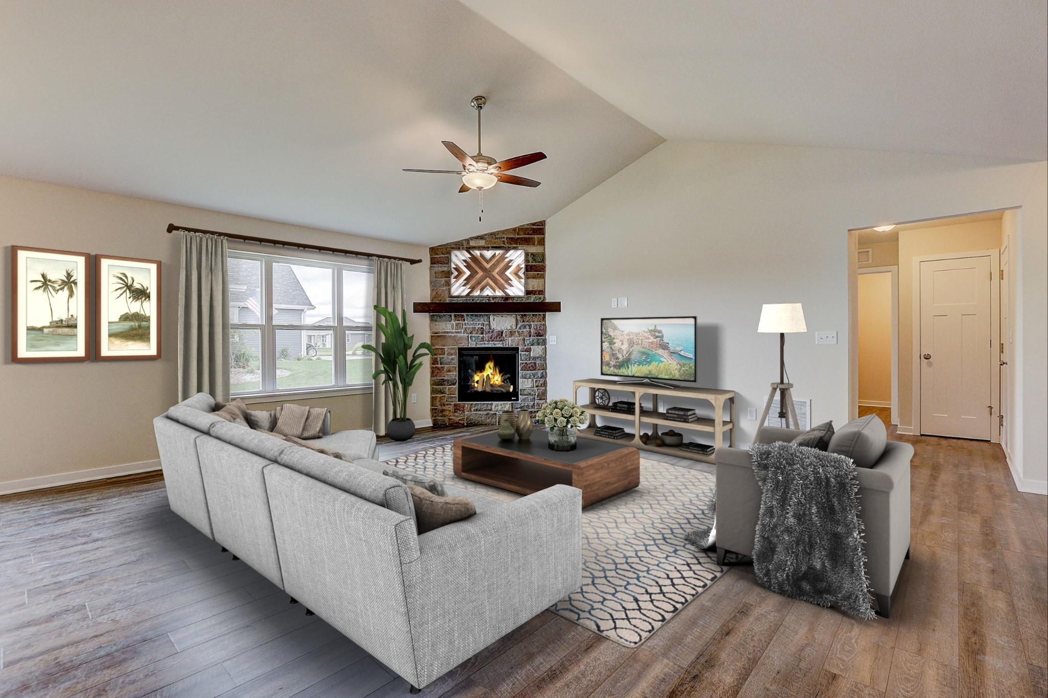 Living Area featured in the Saybrook By Harbor Homes in Ozaukee-Sheboygan, WI
