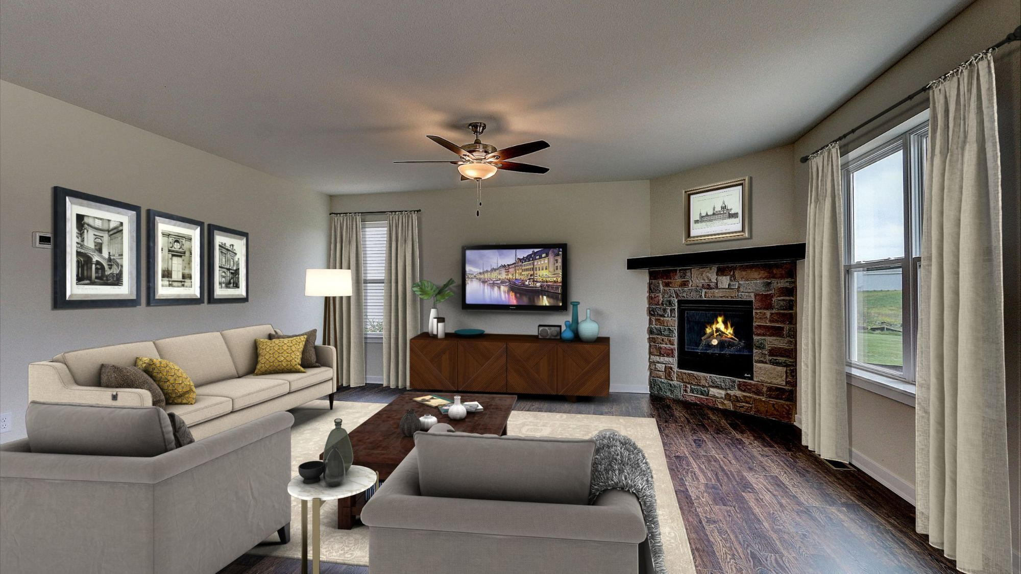 Living Area featured in The Catalina By Harbor Homes in Washington-Fond du Lac, WI
