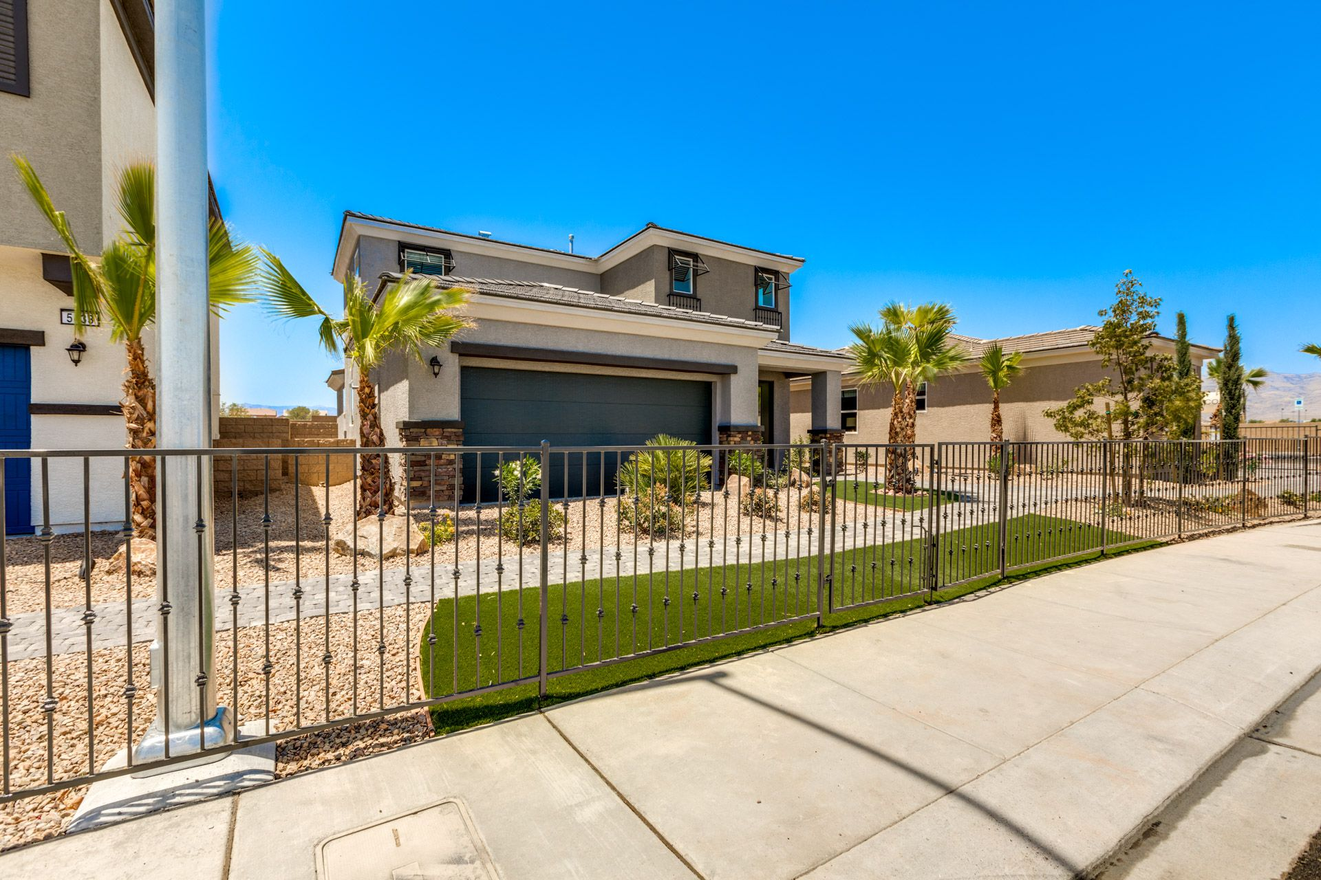 Exterior featured in the Residence 1763 By Harmony Homes - Las Vegas in Las Vegas, NV