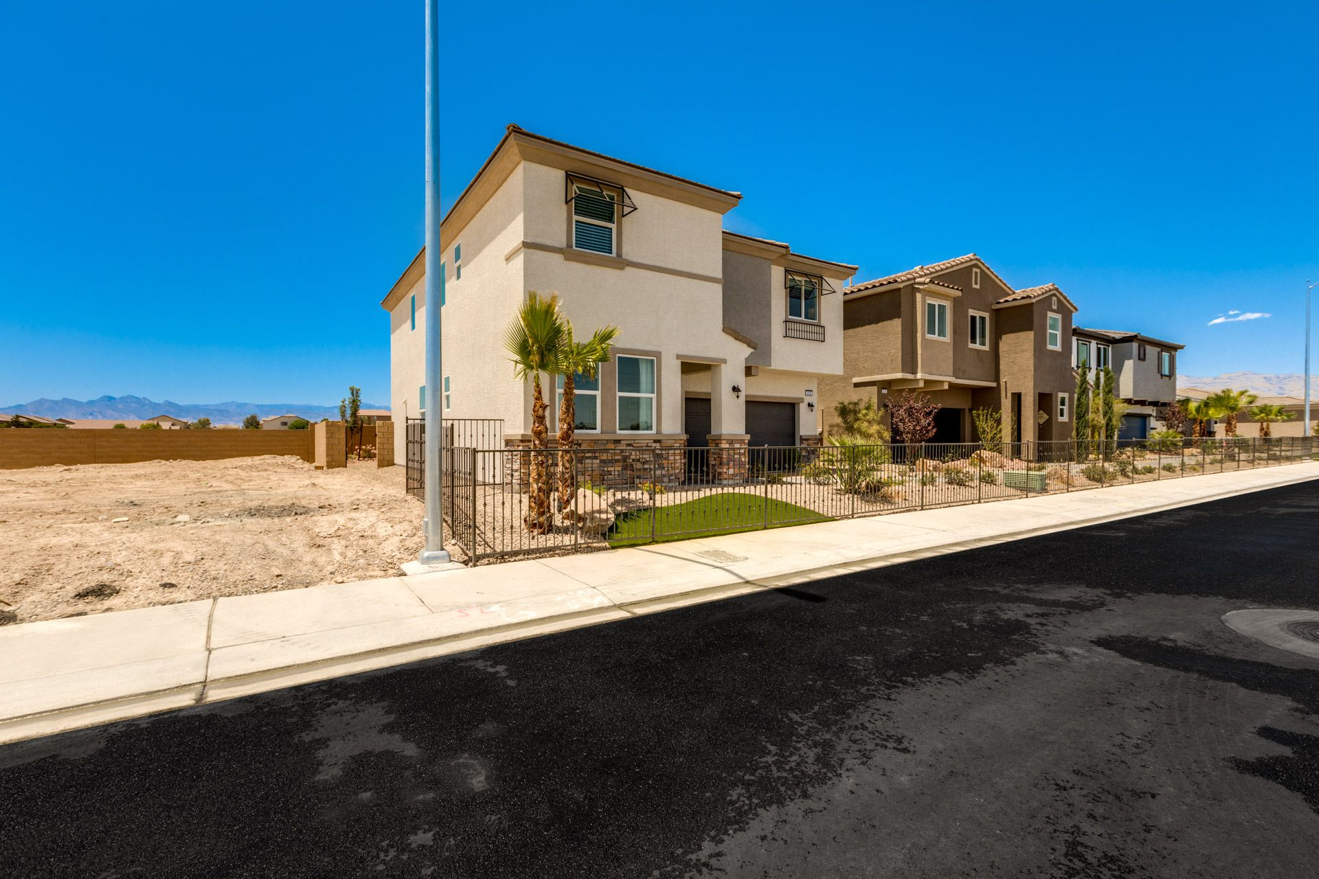 Exterior featured in the Residence 2370 By Harmony Homes - Las Vegas in Las Vegas, NV
