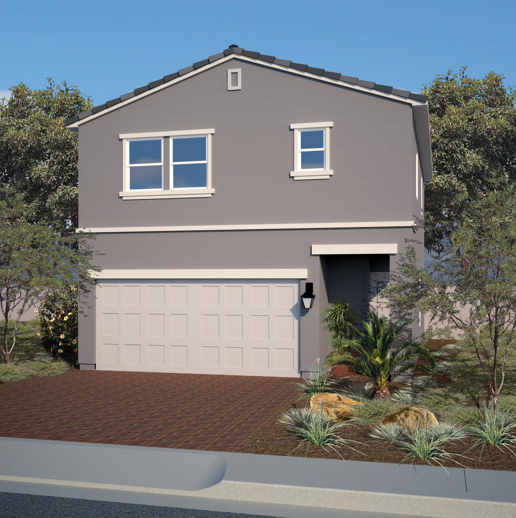 Exterior featured in the Residence 1339 By Harmony Homes - Las Vegas in Las Vegas, NV