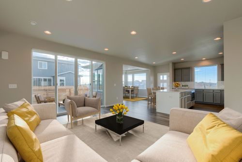 Greatroom-and-Dining-in-Galileo-at-Mosaic Single-Family-in-Fort Collins