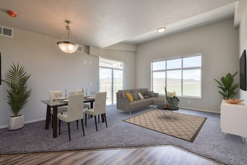 Greatroom-and-Dining-in-1 Bed/1 Bath-at-The Condos at Enchantment Ridge-in-Loveland
