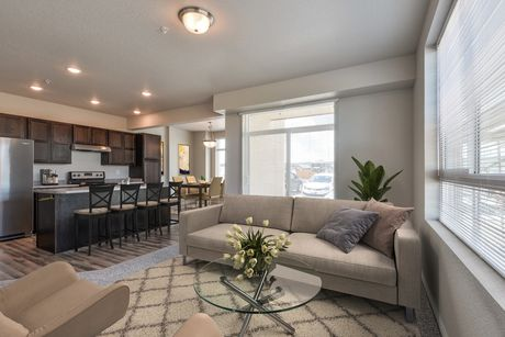 Greatroom-and-Dining-in-2 Bed/1 Bath-at-The Condos at Enchantment Ridge-in-Loveland