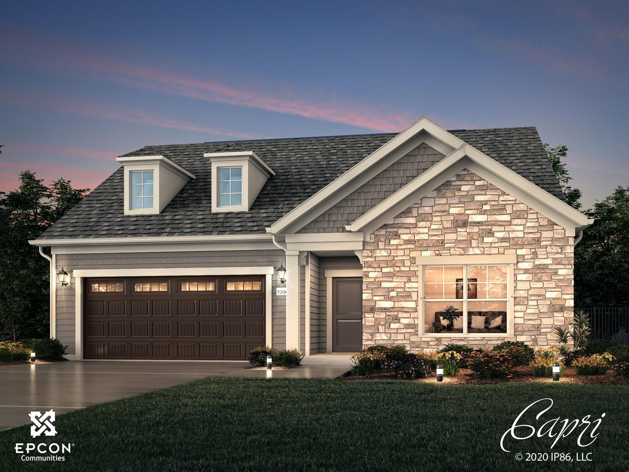 Exterior featured in the Capri IV By Scarmazzi Homes in Pittsburgh, PA
