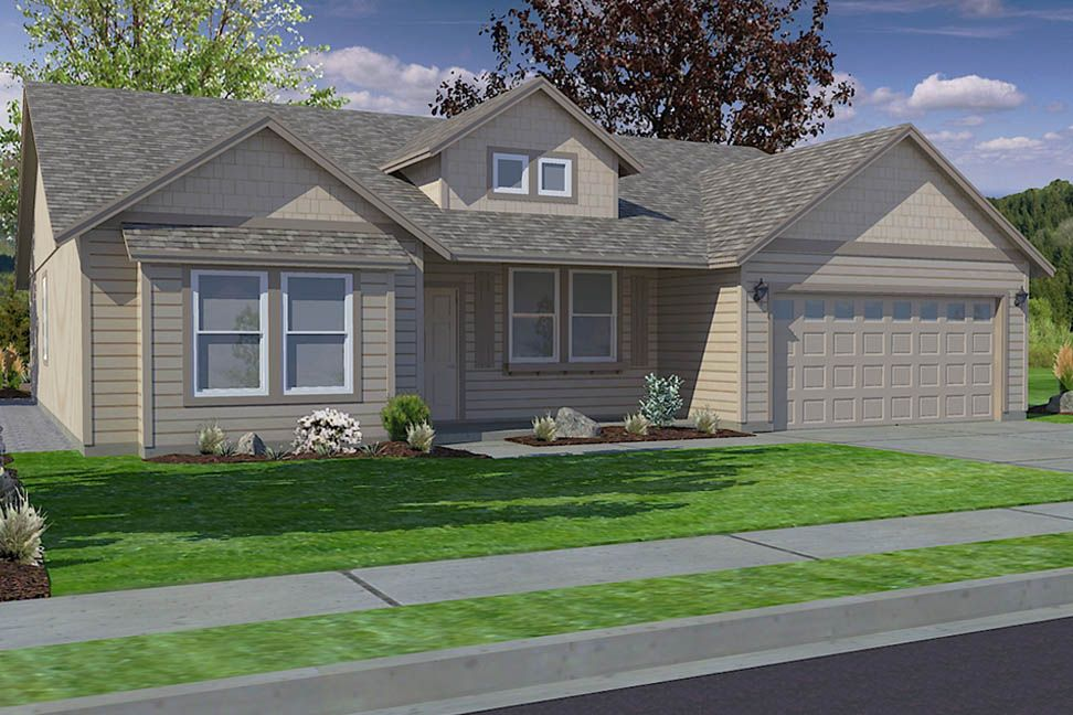 Exterior featured in the Snowbrush By Hayden Homes, Inc. in Richland, WA