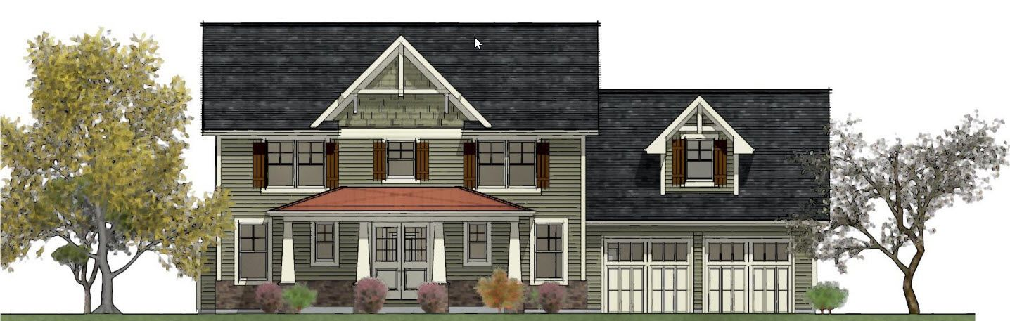 Exterior featured in the Floor Plan 2 By Hedding Homes, LLC in Rochester, NY
