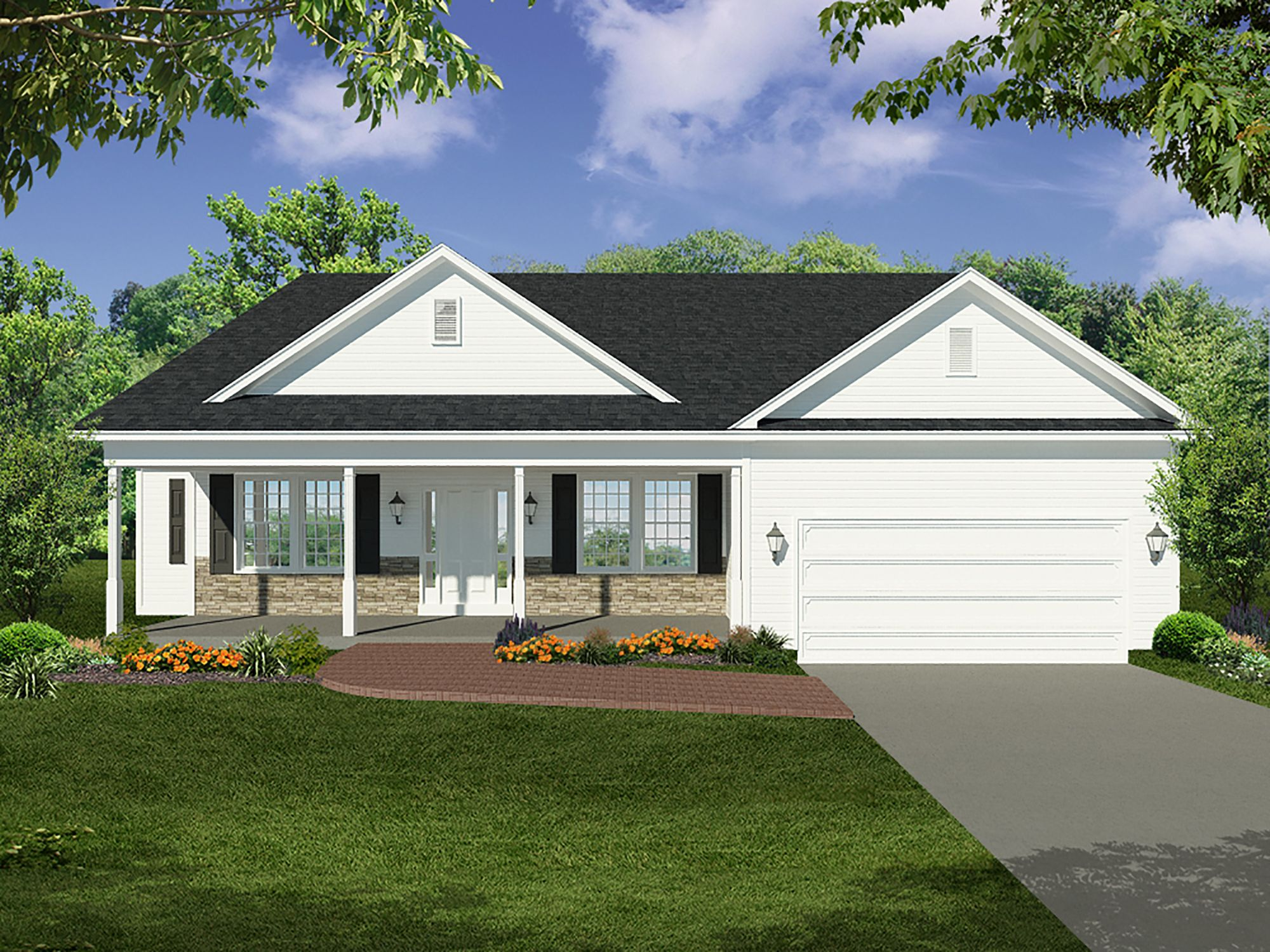 Exterior featured in the Banyan By Heritage Custom Builders in Albany-Saratoga, NY