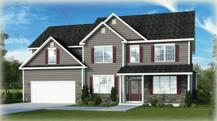 Exterior featured in the Sassafras - Phase 4 By Heritage Custom Builders in Albany-Saratoga, NY