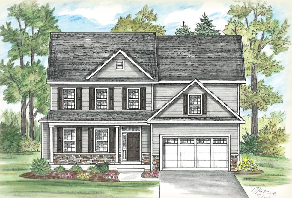Exterior featured in the Chestnut w Bonus Room By Heritage Custom Builders in Albany-Saratoga, NY