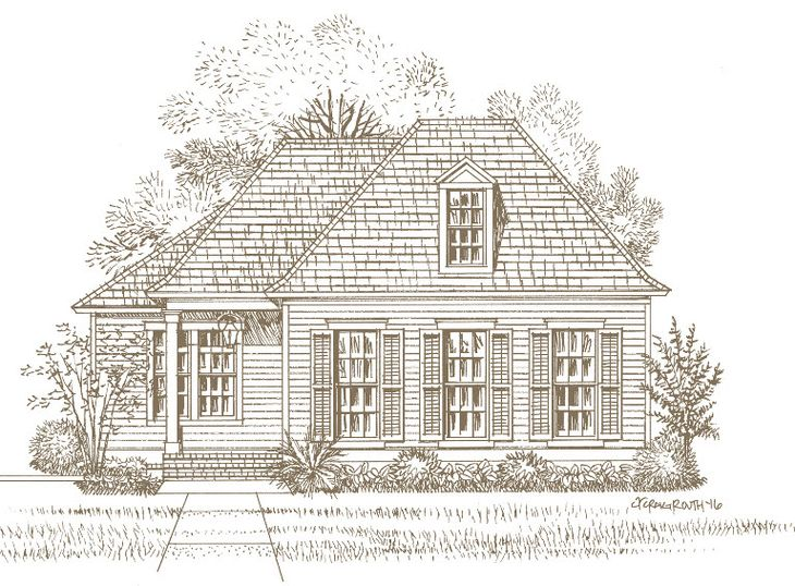 Front Elevation:The Fairfield A - Highland Homes