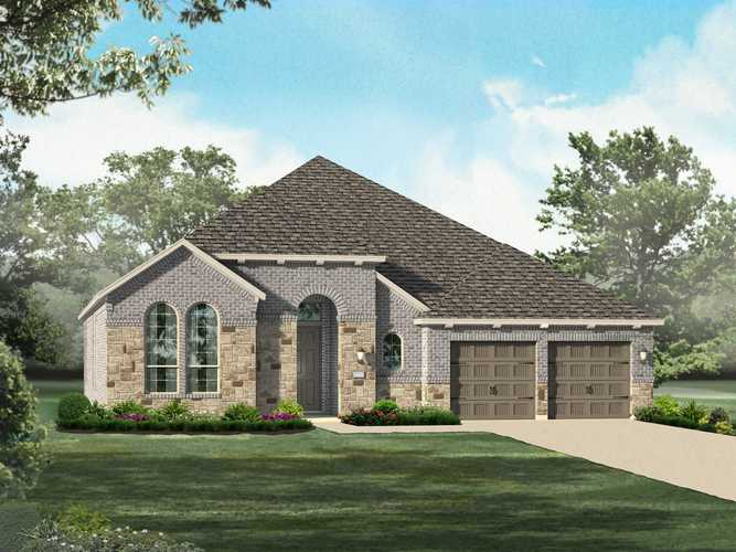Exterior featured in the Plan 242 By Highland Homes in San Antonio, TX
