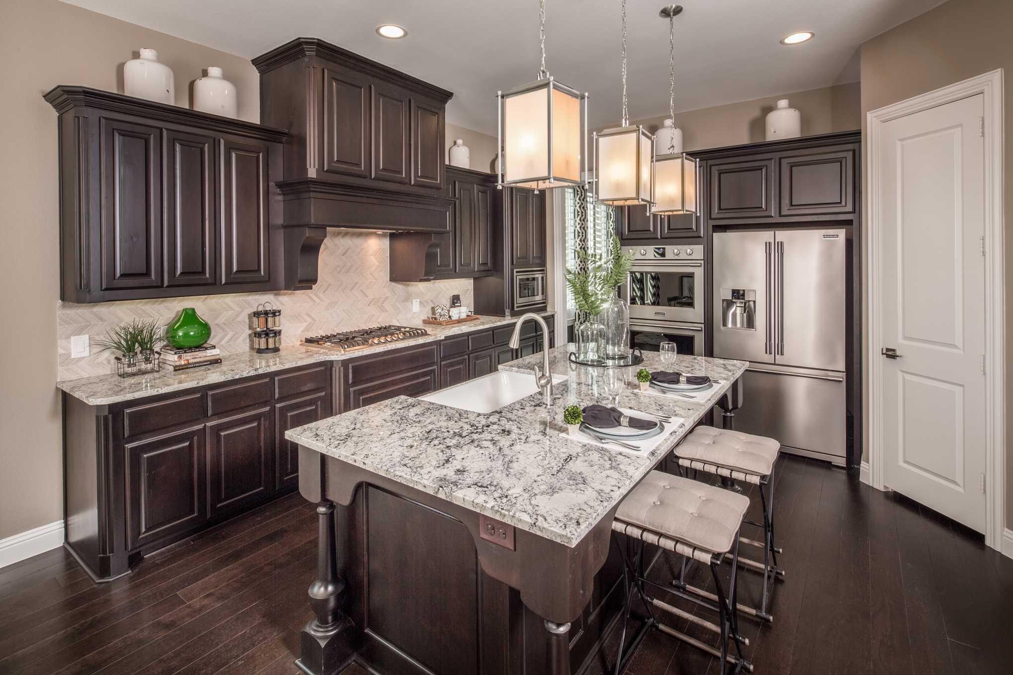 Kitchen-in-Plan 267-at-Star Trail: 86ft. lots-in-Prosper