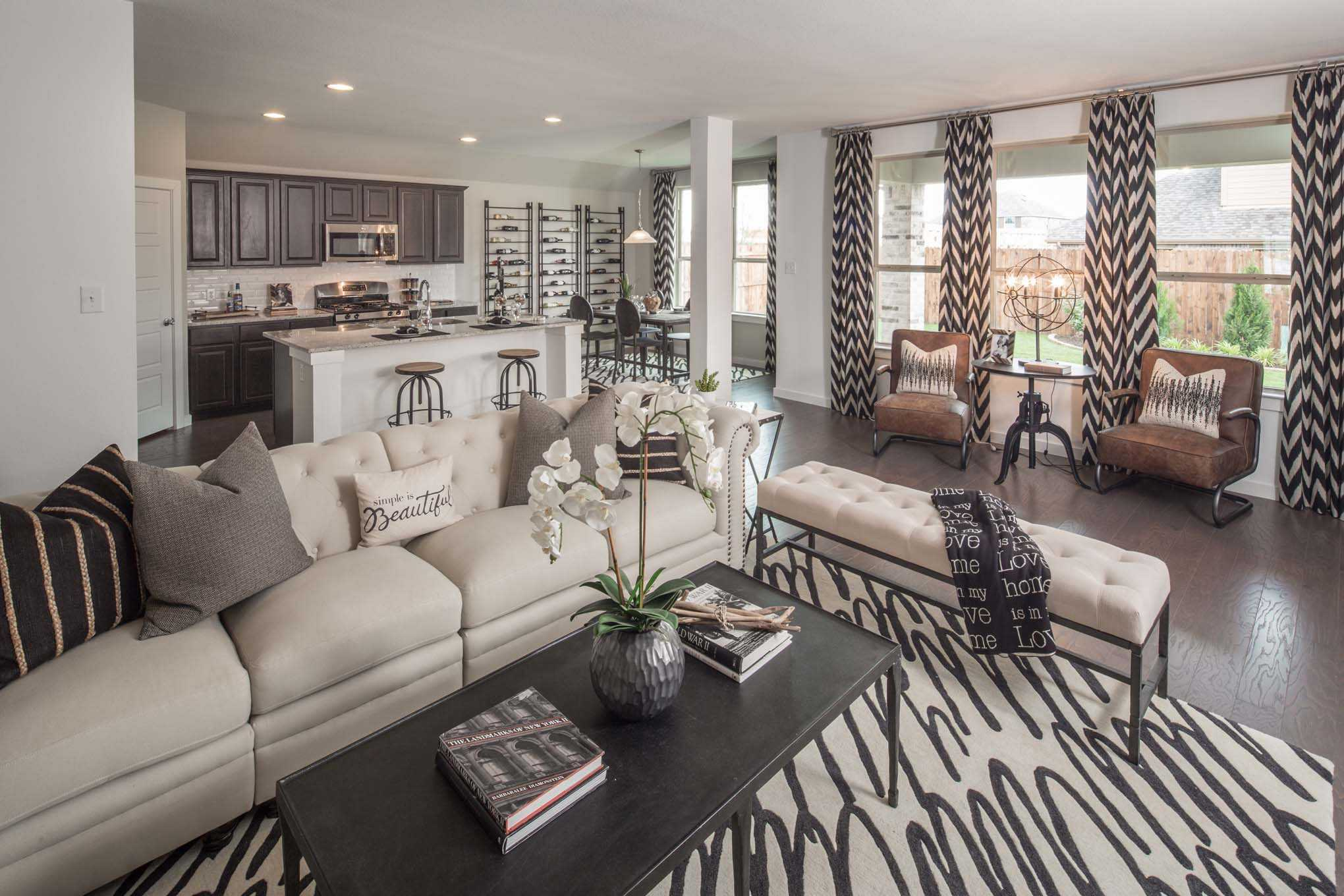 Living Area featured in the Plan Fairhall By Highland Homes in Sherman-Denison, TX