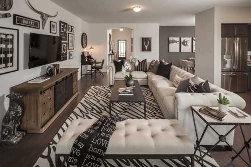 Greatroom-and-Dining-in-Plan Fairhall-at-Glen Crossing: 60ft. lots-in-Celina