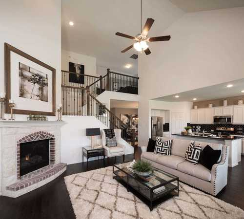 Greatroom-and-Dining-in-Plan Yorkshire-at-Glen Crossing: 60ft. lots-in-Celina