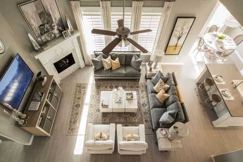 Greatroom-and-Dining-in-Plan Roxburgh-at-Glen Crossing: 60ft. lots-in-Celina
